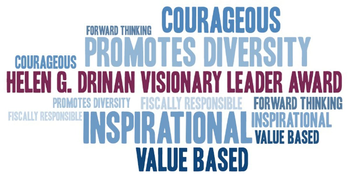 visionary leader word cloud