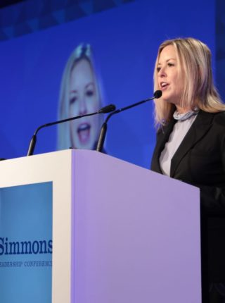 woman speaking at an event